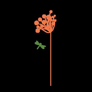 floare portocalie